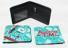 Adventure Time With Finn And Jake Cartoon Bag PU Anime Wallet