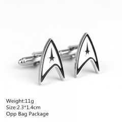 Popular Style Star Trek Alloy Cufflinks New Arrival Products Anime Cuff Button 2.3*1.4CM 10pcs/set