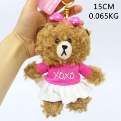 Line Bear Brown Cute Pink Doll Pendant Anime Plush Toy