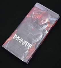 MASS EFFECT Hot Cartoon Coin Purse Wholesale Anime Long Wallet