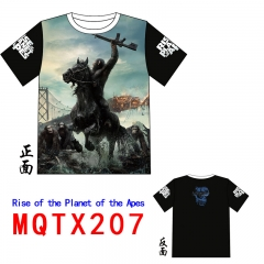 Rise of the Planet of the Apes American Action Movie Cosplay Anime Short Sleeve T Shirt