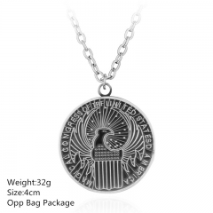 Fantastic Beasts and Where to Find Them Silver Alloy Anime Necklace Set