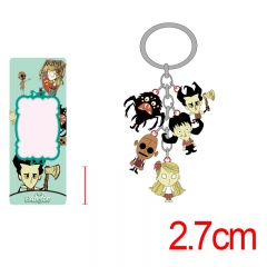 Don't Starve Colorful Alloy Figure Keyring Anime Keychain