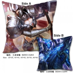 King Of Glory Popular Game Print Cosplay Comfortable Square Two Sides Anime Pillow 45*45CM