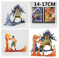 One Piece Ace & Marshall·D Teach Cartoon Toys Japanese Anime Figure Set Of 2
