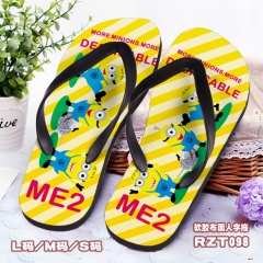 Despicable Me Soft Rubber Slippers Anime Flip-flops