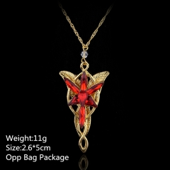 Famous Movie Twilight Alloy Pendant Wholesale Fashion Beautiful Anime Necklace Set