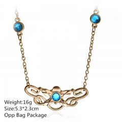 Beautiful Golden The Hobbit Anime Choker Cosplay Wholesale Alloy Necklace 10pcs/set 5.3*2.3CM