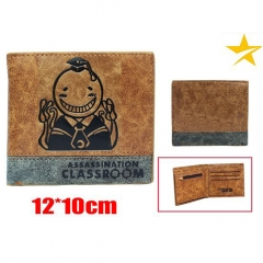 Assassination Classroom Cartoon Brown Purse Wholesale Japanese Anime Wallet