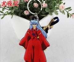 Inuyasha Japanese Cartoon Soft Rubber Pendant Anime Keychain