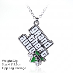 Grand Theft Auto V Alloy Anime Necklace Set