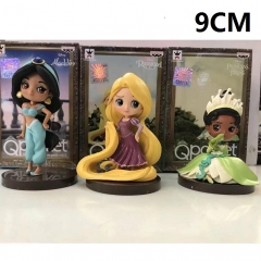 Disney Cartoon Princess Toys 3 Designs Anime Figure Set 9CM