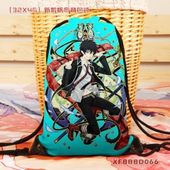 Ao no Exorcist Canvas Cartoon Backpack Anime Drawstring Bag
