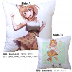 Kemono Friends Japanese Cartoon Cute Style Print Two Sides Comfortable Good Quality Anime Pillow 45*45CM