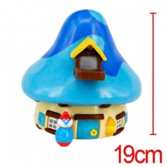 The Smurfs Blue Mushroom Cute Designs Anime Money Pot For Kid