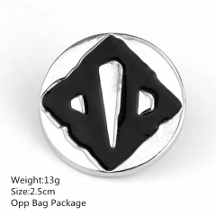 2.5CM Black Color Good Quality Dota Alloy Breastpin Fashion Design Popular Anime Brooch 10pcs/set