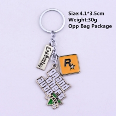 Grand Theft Auto V Anime Keychain Keyring Accessories Gift(10pcs/Set)