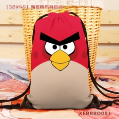 Angry Birds Canvas Cartoon Package Backpack Anime Drawstring Bag