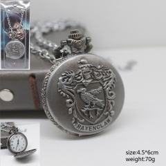 Harry Potter Ravenclaw Silver Pocket Watch Wholesale Anime Watch
