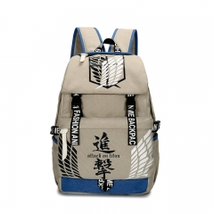 Attack on Titan Gray Canvas Notebook Bag Anime Backpack 43*31*15CM