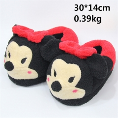 Disney Cartoon Anime Mickey Mouse Cute Plush Slipper