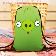 Angry Birds Canvas Cartoon Gift Packaging Anime Drawstring Bag