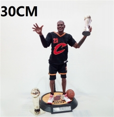NBA Star James Black Number 23# Cartoon Toys Action Anime Figure 30CM