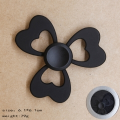 Heart Shape Black Anime Hand Fidget Spinner