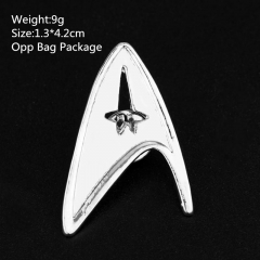 Popular White Star Trek Ouch New Fashion Design Alloy Anime Brooch 10pcs/set