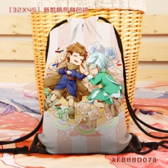 Tales Of Zestiria Cartoon Backpack Canvas Anime Drawstring Bag