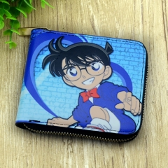 Detective Conan Japanese Cartoon For Adult Zipper Folding Purse Anime Wallet