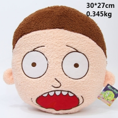 Rick And Morty Anime Cute Kids Soft Plush Cartoon Pillow 30*27cm