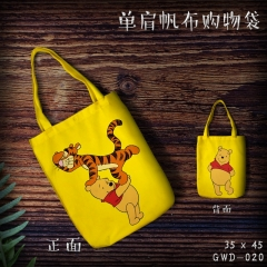 Winnie the Pooh Cartoon Canvas Shoulder Bags Anime Shopping Bag