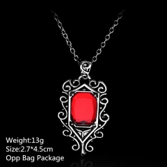 The Mortal Instruments: City of Bones Ruby Silver  Alloy Anime Necklace Set