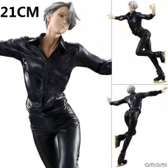 MH Yuri On Ice Victor Nikiforov Cartoon Toys Japanese Anime Action Figure 21CM