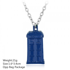 Doctor Who House Blue Alloy Anime Necklace (10pcs/set)