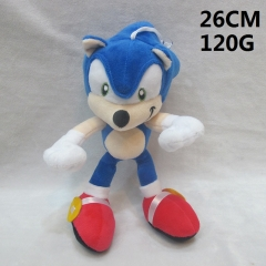 Sonic Cartoon Stuffed Doll Cute Design Anime Plush Toys 26CM