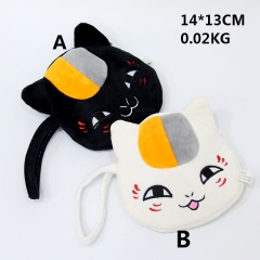 Popular Cartoon Natsume Yuujinchou Anime Cute Designs Cat Plush Purse Bag