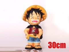 One Piece Luffy Cartoon Figure Japanese Resin Anime Money Pot 30CM