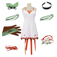 Tales of Zestiria White Edna Cosplay Fashion Clothing Anime Costume XS S M L XL