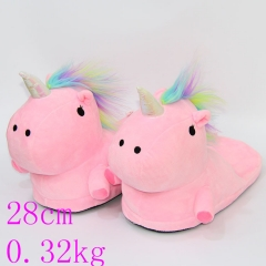 Lovely Unicorn Anime Plush Soft Designs Pink Slipper 28cm