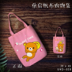 Rilakkuma Cartoon Canvas Shoulder Bags Anime Shopping Bag