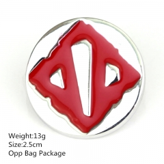 Red Dota 2.5CM Alloy Breastpin Wholesale Fashion Anime Cosplay Brooch 10pcs/set