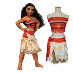 Movie Princess Moana Cosplay Costume Adult Dress Cosplay (S,M,L,XL)
