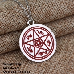 The Mortal Instruments: City of Bones 5 Stars Angle Alloy Anime Necklace Set