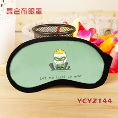 Cartoon Green Lantern Color Printing Composite Cloth Anime Eyepatch