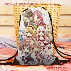 Tales Of Zestiria Cartoon School Backpack Canvas Anime Drawstring Bag Wholesale