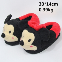 Disney Cartoon Anime Mickey Mouse And Minnie Mouse Plush Slipper