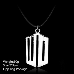 White Good Quality Doctor Who Choker Alloy Anime Necklace 10pcs per set