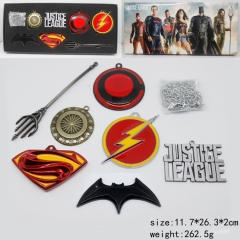 Justice League Anime Different Designs Keychain Set